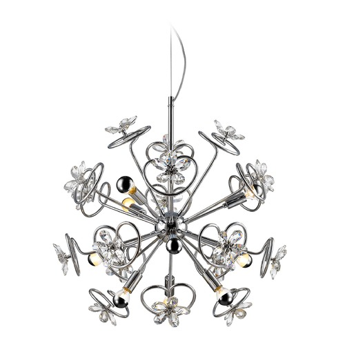 Golden Lighting Golden Lighting Flora Chrome LED Pendant Light C354-09-CH