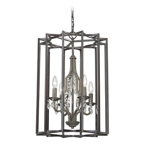 Elk Lighting Elk Lighting Belgique Oil Rubbed Bronze, Malted Rust Pendant Light 32151/4