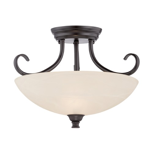 Designers Fountain Lighting Designers Fountain Kendall Oil Rubbed Bronze Semi-Flushmount Light 85111-ORB