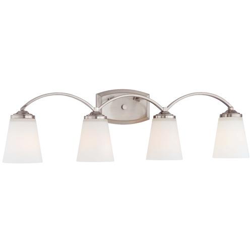 Minka Lavery Overland Park Brushed Nickel Bathroom Light 6964-84