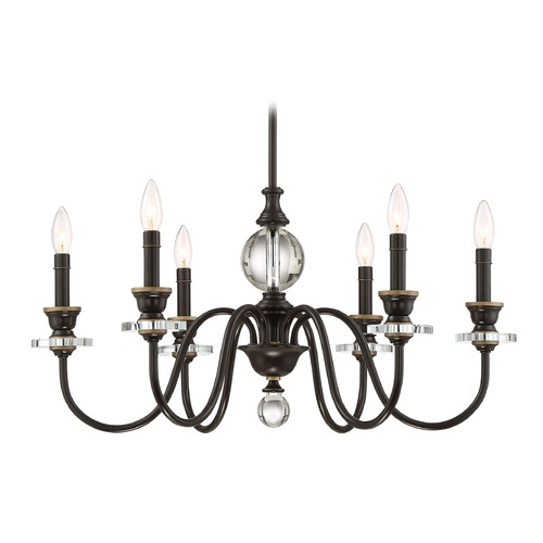 Quoizel Lighting Quoizel Lighting Ceremony Palladian Bronze Chandelier CRY5006PN