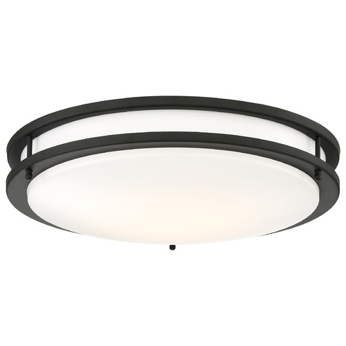 Nuvo Lighting Nuvo Lighting Glamour Black LED Flushmount Light 62/1437