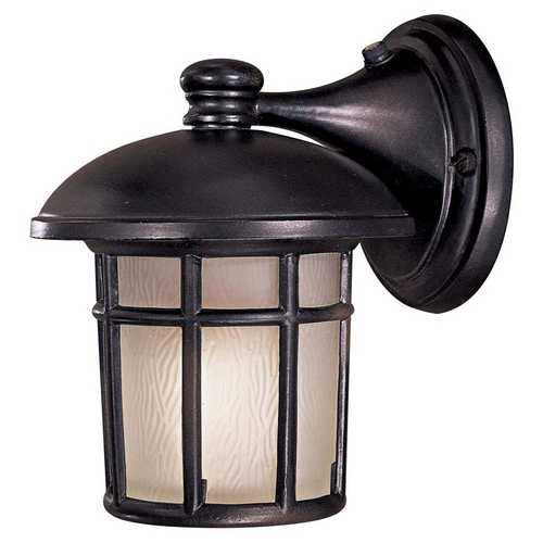 Minka Lavery Outdoor Wall Light with White Glass in Heritage Finish 8251-94-PL
