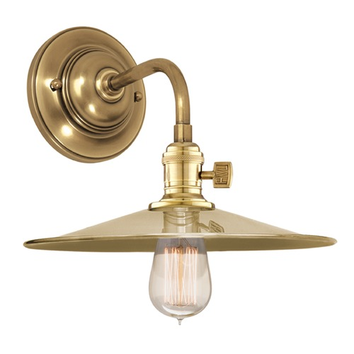Hudson Valley Lighting Sconce Wall Light in Aged Brass Finish 8000-AGB-MS1