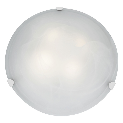 Access Lighting Modern Flushmount Light with Alabaster Glass in White Finish 23021-WH/ALB