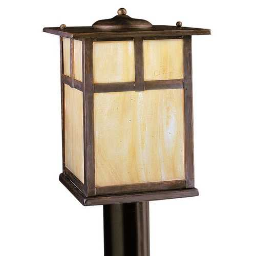 Kichler Lighting Kichler Post Light with Beige / Cream Glass in Canyon View Finish 9953CV