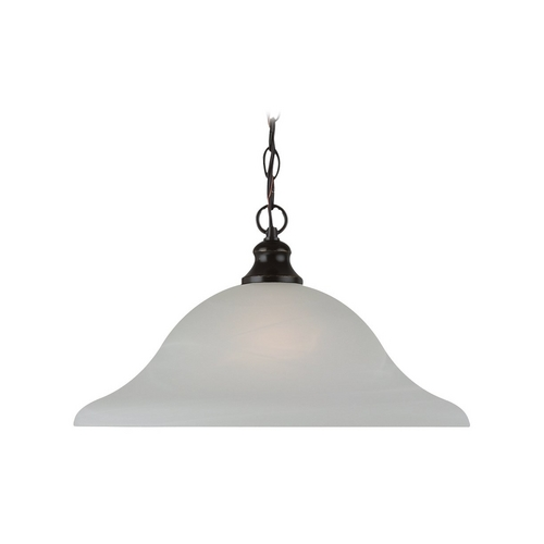 Sea Gull Lighting Pendant Light with Alabaster Glass in Heirloom Bronze Finish 65942-782