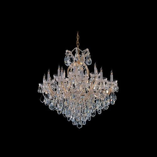Crystorama Lighting Crystal Chandelier in Gold Finish 4418-GD-CL-SAQ