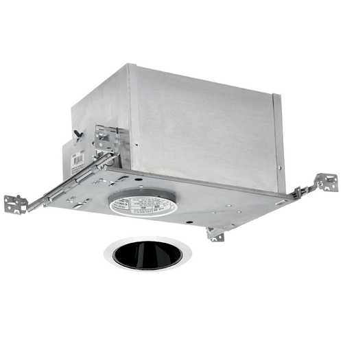 Juno Lighting Group 4-inch Low-Voltage Recessed Lighting Kit with Black Trim IC44N/442B-WH