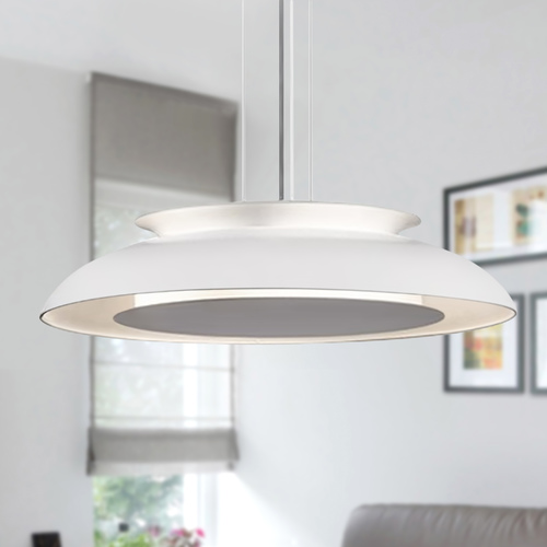 Kuzco Lighting Kuzco Lighting Eclipse White LED Pendant Light with Bowl / Dome Shade PD13020-WH