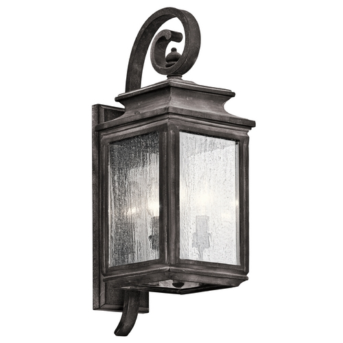 Kichler Lighting Kichler Lighting Wiscombe Park Weathered Zinc Outdoor Wall Light 49502WZC