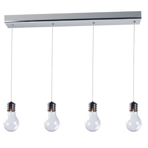 ET2 Lighting Edison Polished Chrome Multi-Light Pendant with Globe Shade E22694-18PC