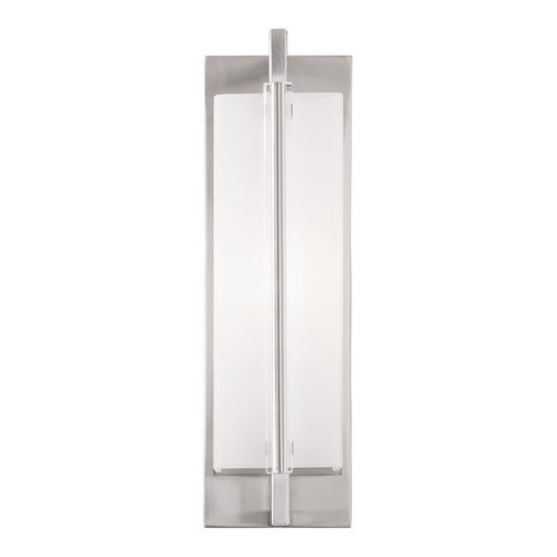 Feiss Lighting Feiss Lighting Fording Brushed Steel Sconce WB1719BS