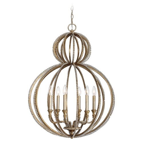 Crystorama Lighting Crystorama Lighting Garland Distressed Twilight Pendant Light 6766-DT