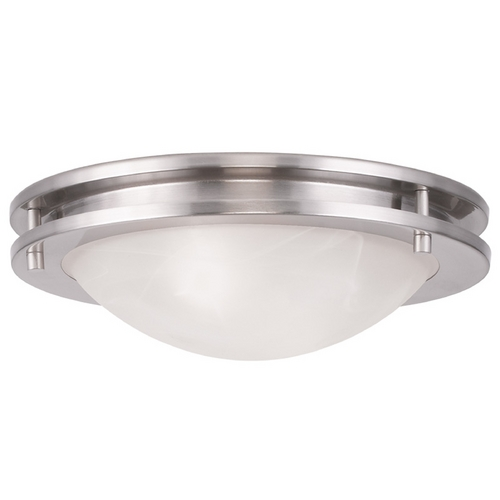 Livex Lighting Livex Lighting Ariel Brushed Nickel Flushmount Light 7057-91