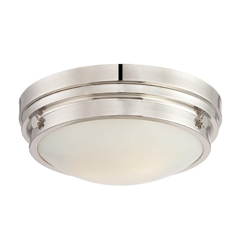 Savoy House Savoy House Lighting Lucerne Polished Nickel Flushmount Light 6-3350-14-109