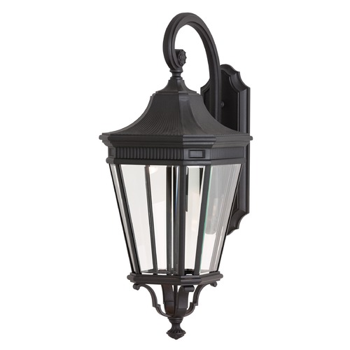 Feiss Lighting Feiss Lighting Cotswold Lane Black LED Outdoor Wall Light OL5404BK-LED