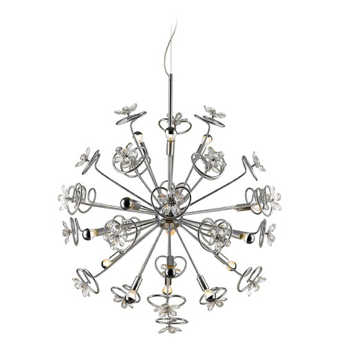Golden Lighting Golden Lighting Flora Chrome LED Pendant Light C354-15-CH