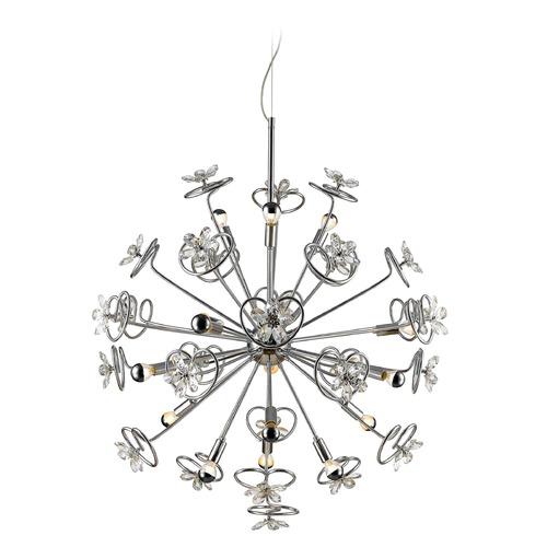 golden lighting flora chrome led pendant light