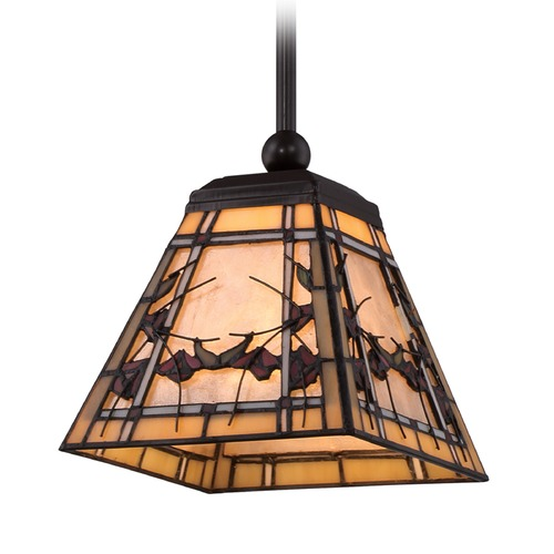 Quoizel Lighting Quoizel Lighting Monteclaire Western Bronze Mini-Pendant Light with Square Shade TFMC1508WT