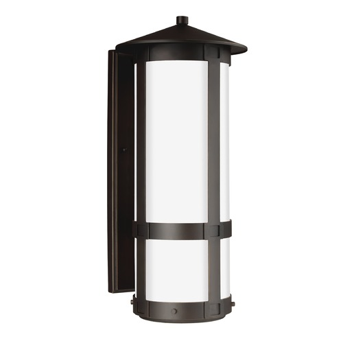 Sea Gull Lighting Sea Gull Groveton Antique Bronze LED Outdoor Wall Light 8735991S-71