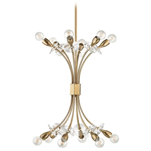 Hudson Valley Lighting Hudson Valley Lighting Alexandria Aged Brass Mini-Chandelier 2712-AGB