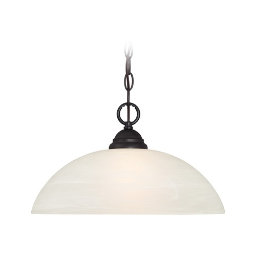 Designers Fountain Lighting Designers Fountain Kendall Oil Rubbed Bronze Pendant Light with Bowl / Dome Shade 85132-ORB