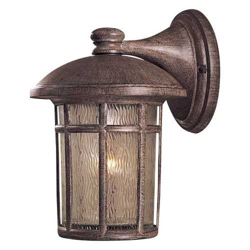 Minka Lighting Outdoor Wall Light with Clear Glass in Vintage Rust Finish 8252-61