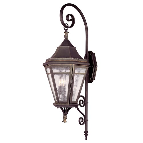Troy Lighting Outdoor Wall Light with Clear Glass in Natural Rust Finish B1272NR