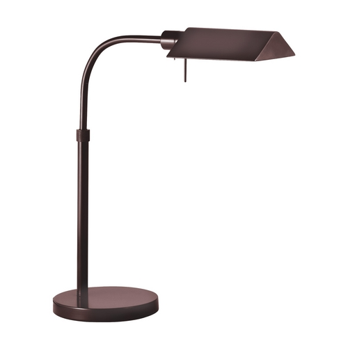 Sonneman Lighting Modern Pharmacy Lamp with Brown Shade in Rose Bronze Finish 7004.3