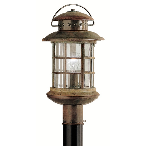 Kichler Lighting Kichler Post Light with Clear Glass in Rustic Finish 9962RST