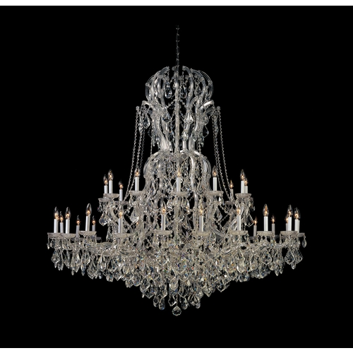 Crystorama Lighting Crystal Chandelier in Polished Chrome Finish 4460-CH-CL-MWP