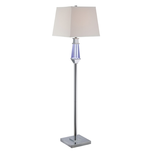 Lite Source Lighting Lite Source Lighting Cicely Chrome Floor Lamp with Square Shade LS-81825