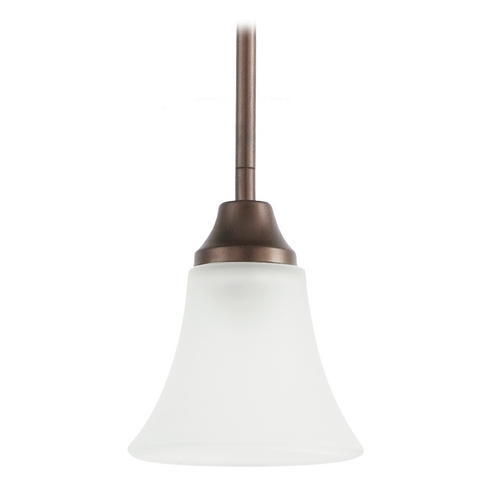 Sea Gull Lighting Mini-Pendant Light with White Glass 61806-827