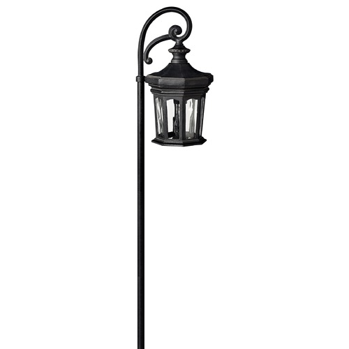 Hinkley Lighting Path Light with Clear Glass in Museum Black Finish 1513MB