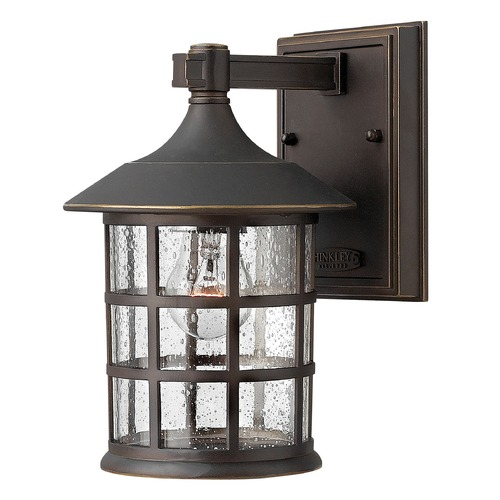 Hinkley Lighting Outdoor Wall Light with Clear Glass in Oil Rubbed Bronze Finish 1800OZ