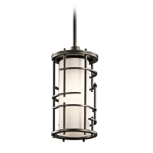 Kichler Lighting Kichler Lighting Tremba Olde Bronze Mini-Pendant Light with Cylindrical Shade 43371OZ