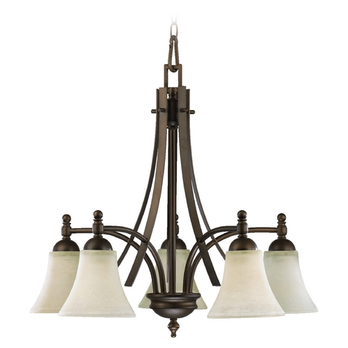 Quorum Lighting Quorum Lighting Aspen Oiled Bronze Chandelier 6477-5-86
