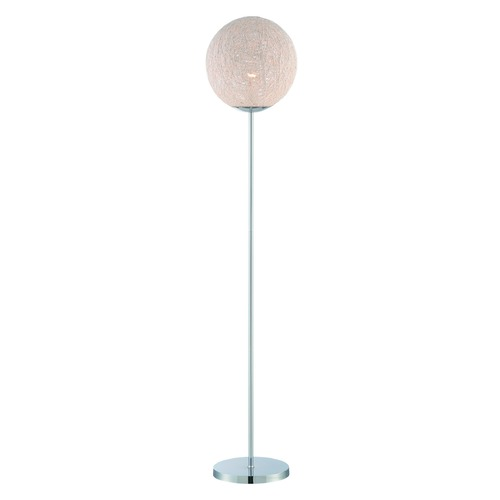 Lite Source Lighting Lite Source Kumi Chrome Floor Lamp with Globe Shade LS-82520