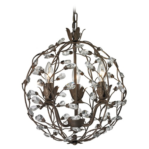 Elk Lighting Elk Lighting Sagemore Bronze Rust Pendant Light 18144/3