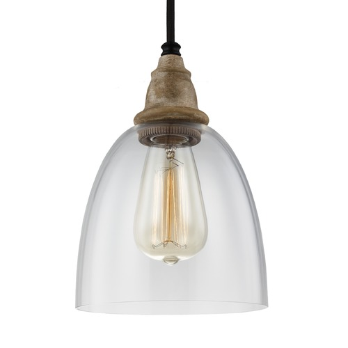 Feiss Lighting Feiss Matrimonio Driftwood / Dark Weathered Zinc Mini-Pendant Light P1394DFW/DWZ
