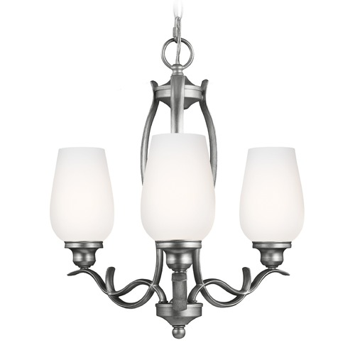 Feiss Lighting Feiss Lighting Standish Heritage Silver Mini-Chandelier F3001/3HTSL