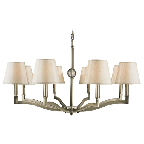 Golden Lighting Golden Lighting Waverly Aged Brass Chandelier 3500-8 AB-PMT