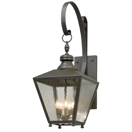 Troy Lighting Seeded Glass Outdoor Wall Light Bronze Troy Lighting B5194