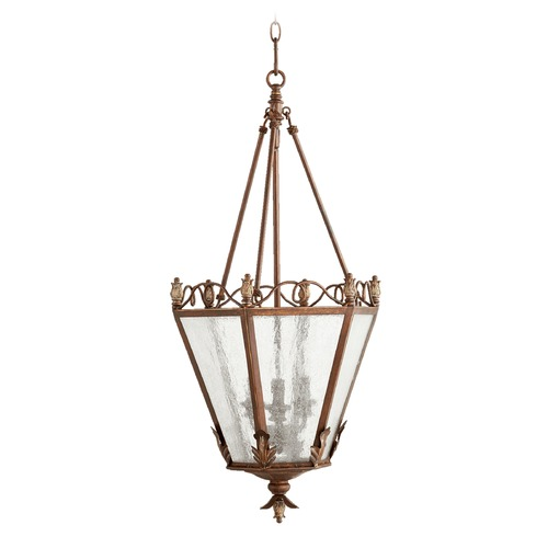 Quorum Lighting Seeded Glass Pendant Light Copper Quorum Lighting 6806-3-39