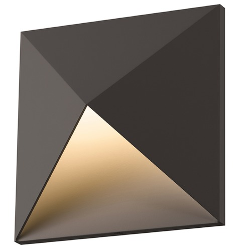 Sonneman Lighting Sonneman Prism Textured Bronze LED Outdoor Wall Light 2714.72-WL