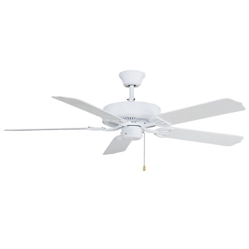 Fanimation Fans Fanimation Fans Aire Decor Matte White Ceiling Fan Without Light BP230MW1