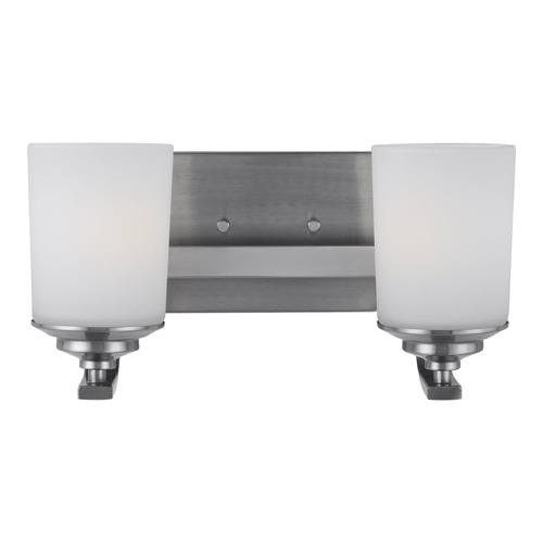 Sea Gull Lighting Sea Gull Lighting Kemal Brushed Nickel Bathroom Light 4430702-962