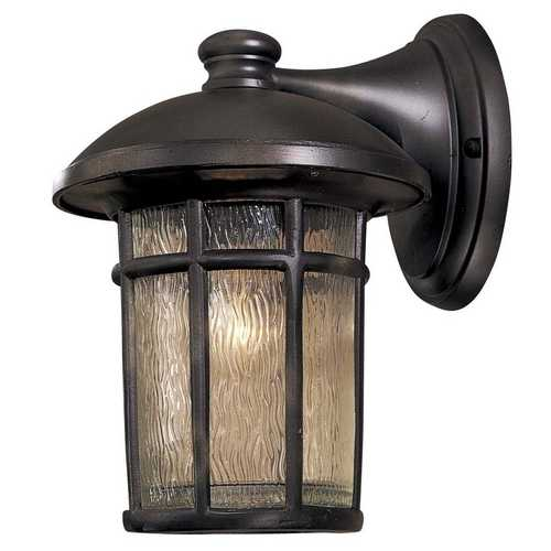 Minka Lavery Outdoor Wall Light with Clear Glass in Heritage Finish 8252-94