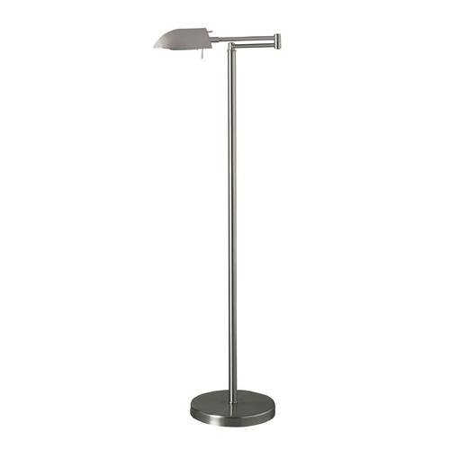 George Kovacs Lighting Modern Swing Arm Lamp in Matte Brushed Nickel Finish P4354-603